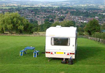 Whitcliffe Camp Site, Ludlow, Shropshire