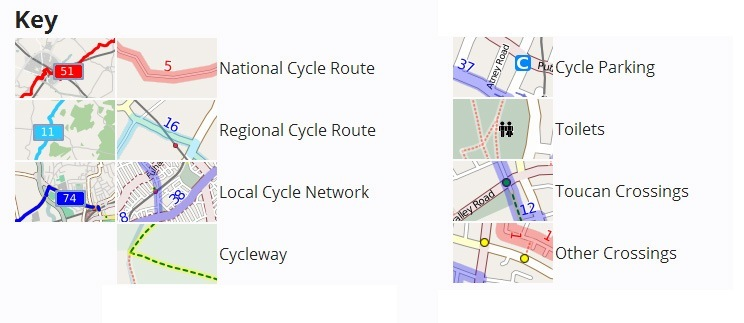Cycle Route Key